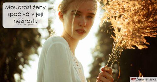 Moudrost ženy spočívá v její něžnosti, říká psycholožka Prekopová